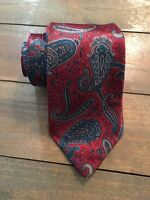 Ketch Red Green Blue Gray Paisley Short Classic Polyester Mens Neck Tie