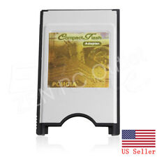 PCMCIA Compact Flash Disk Memory CF Card Reader Adapter PC Laptop US Stock