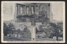 Postcard CANFIELD Ohio/OH  Twee-Crest Tourist Inn Cabins Tri-view 1920's