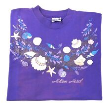 Vintage Hilton Head Seashell Beach Nc Souvenir T Shirt Single Stitch Adult Xl