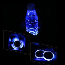 2019 New Solar Power Blue LED Cup Holder Pad Car SUV Light Mat Car Accessories