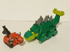 2015 Dreamworks Mattel Dinotrux Lot of 2 Figures Plastic Green Garby