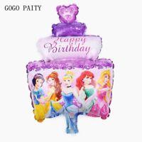 Princess Cartoon Foil Ballon Kids Birthday Party Decoration Supplies Ornaments
