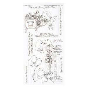 Bake Cooking Mouse Sweet Shop CLEAR Stamp Set by My Favorite Things SY-18 New