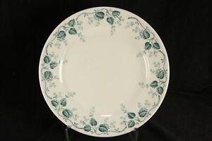 "Mayer Restaurant China Plate Pembroke Pattern 9 3/4"" Green Leaves"