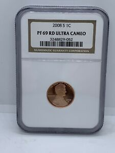 2008 S Lincoln Cent NGC PF69 RD ULTRA CAMEO #543
