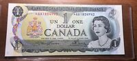 Canadian 1973 Star $1 Bill - Never Been Circulated!  Serial:*AA18554942