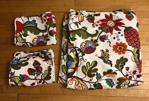 Pottery Barn Josef Frank Serafina Floral Linen Duvet Cotton Full Queen Shams Set