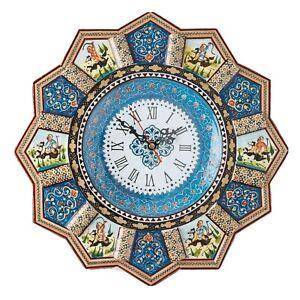 LPUK Luxury Khatam Polo Design Wall Clock Sun Clock Collection SERIES 2 32 cm