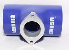 """3"""" BLUE Silicone Adapter w/ Type S BOV Flange fits Acura BMW Toyota Mitsubishi"""