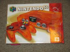 Nintendo 64 Fire Orange Console #130 Funtastic Fire NEW
