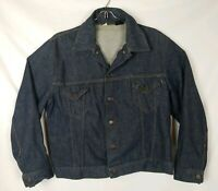 VTG SEARS WESTERN WEAR Sz 46R Denim Trucker Jacket Roebucks Jean Button Up