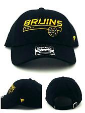 Boston Bruins Hockey Fanatics Pro New Black Gold MA Team Era Lo Pro Dad Hat Cap