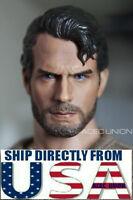1/6 Superman Henry Cavill Head Sculpt Clark Kent 3.0 For Hot Toys Figure USA