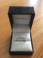 Platinum 1.0ct Diamond Trilogy Ring. Size M.