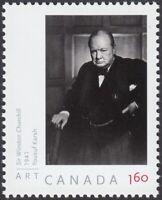 WINSTON CHURCHILL = YOUSUF KARSH = stamp from SS, MNH-VF Canada 2008 #2271b