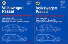 1995 1996 1997 VW Passat Repair Shop Manual Set Sedan and Wagon GLS GLX VR6 TDI