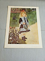 "National Gallery of Art, Renoir  "" A Girl with a Watering Can "" Print 11"" x 14''"