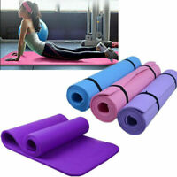 Yoga Mat 15mm Thick Gym Exercise Fitness Pilates NonSlip Mat Sport Pad
