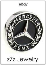 MERCEDES BENZ Logo Emblem Lapel Pin - silver badge auto car jewelry tie tack