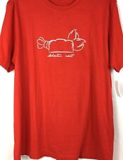 IZOD New T-Shirt Men's Small Red Lobster Roll 100% Cotton Tee
