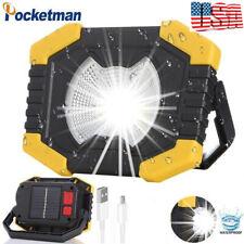80000lm Solar Power Led Work Light Floodlight Spotlight Flashlight Camping Lamp