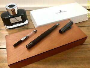Graf Von Faber Castell Fountain pen Classic Macassar Black Edition Fine 145741