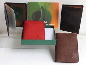 Leather Travel / Credit Card Holder Oak Range by Golunski Presentation Gift Box