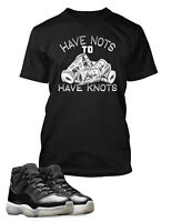Have to Have Knots Sneaker Tee Shirt to Match Air Jordan 11 Jubilee Shoe