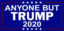 Wholesale Lot of 6 Anyone But Trump 2020 Blue White Red Decal Bumper Sticker