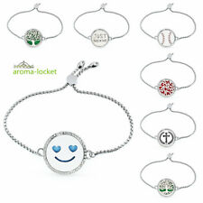 Lockets bangle Aromatherapy Pendant Bracelet Oil Diffuser alloy crystal hot
