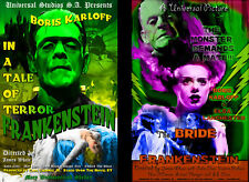 Frankenstein and Bride of Frankenstein Lot of 2 prints Quality Posters Sale