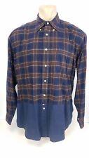 Vintage Tommy Hilfiger Shirt Long Sleeve Button Front Plaid Block Size Large L