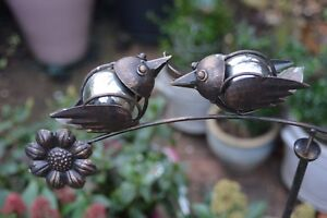 Balancing Love Birds Moving Garden Ornament - Lovebirds Great Mothers Day Gift