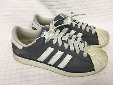 Men's ADIDAS Gray Suede/Microfiber Shoes 11.5 US Trefoil Superstar Sneakers 2009