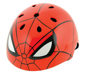 Spiderman Kids Boys Ramp Safety Helmet Marvel Themed Skate Bicycle ✅BMX RED New