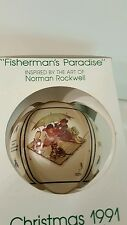 Vintage Norman Rockwell 1991 Limited Edition Fisherman's Paradise Ornament