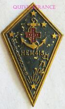 IN9678 - INSIGNE Hôpital d'Evacuation Motorisé 415, métal peint