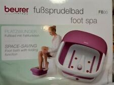 BEURER THERAPY FOLDING FOOT SPA FOOT BATH FB30 NEW UNUSED IN WATER DAMAGED BOX