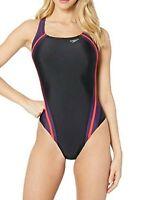 Speedo Women's Quantum Splice PowerFLEX Eco One Piece Swimsuit, Gravity, size 8