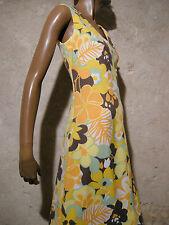 Vintage Chic Vestito lungo 1970 Maxi Abito 70s Kleid 70er Retrò (36/38