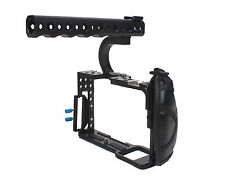 DSLR Rig Cage With Top Handle Grip Leather Strap For Sony A7 A7r A7S Camera