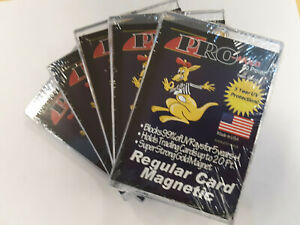 Pro Mold 20pt Gold Magnet Magnetic One Touch Lot of 5 For Regular Standard Cards