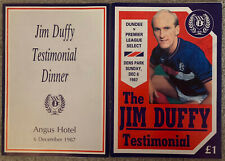 More details for jim duffy dundee testimonial programme 1987 signed by many (see all pics)