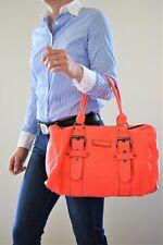 Longchamp, Sac Kate Moss, boston en cuir façon galuchat corail flash