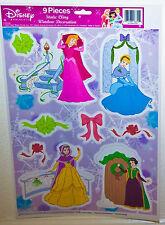 Disney Princess Belle Cinderella Snow White Aurora Christmas Window Clings