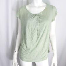 ecb51802e33263 Sundance Green Asymmetrical cap Sleeve tank Linen Blouse Top Knit Shirt Sz M