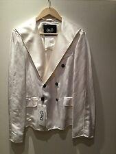 D&G Dolce & Gabbana white linen blazer size 46 (UK 12-14) NWT RRP €465