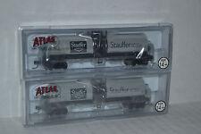 2 Atlas Stauffer Chemicals 17.360 gallon tank cars N scale