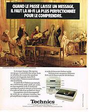 PUBLICITE ADVERTISING 044  1981  TECHNICS  hi-fi platine SL 10